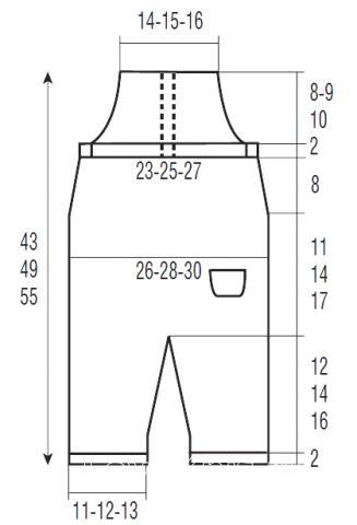 Схема вязания детский полукомбинезон с карманом и пинетками раздел для детей детские штанишки