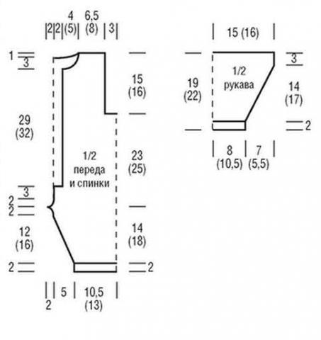 Схема вязания двухцветный комбинезон и пинетки для малыша раздел для детей детские штанишки