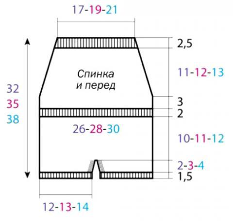 Схема вязания комбинезон на бретелях с цветным узором раздел для детей детские штанишки