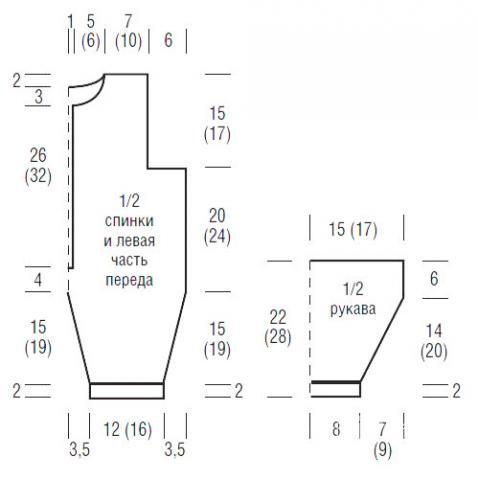 Схема вязания комбинезон для малыша с контрастной отделкой и носки раздел для детей детские штанишки