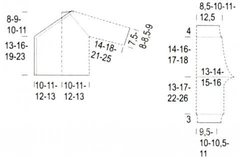 Схема вязания комплект из кофточки и штанишек для младенца раздел для детей детские штанишки