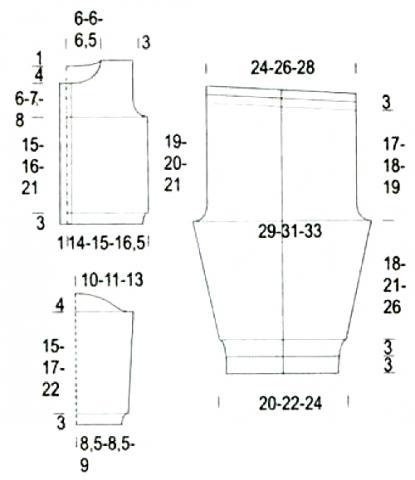 Схема вязания полосатый костюм из штанов и кофты раздел для детей детские штанишки
