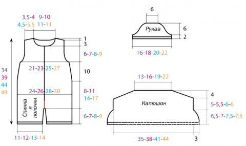 Схема вязания полукомбинезон для ребенка с ажурным капюшоном раздел для детей детские штанишки