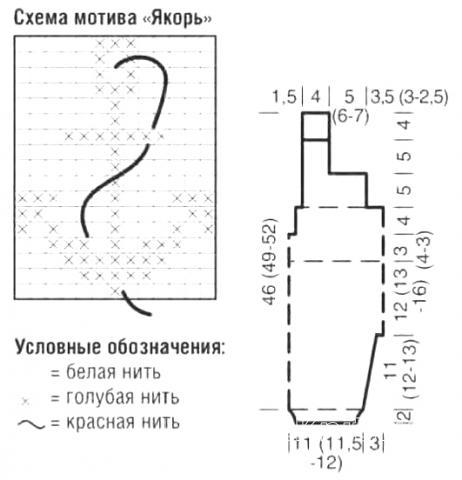 Схема вязания ползунки в полоску на бретелях раздел для детей детские штанишки