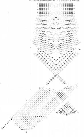 Схема вязания купальник-бикини с геометрическим узором раздел вязание крючком для женщин купальники