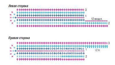 Схема вязания цветные тапочки для дома с завязками раздел вязание крючком для женщин носки