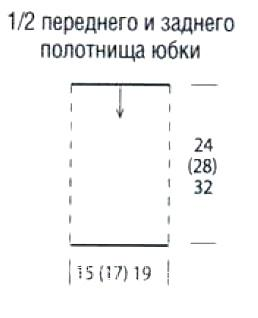 Схема вязания двухцветная юбка для девочки с волнами по подолу раздел вязание крючком для женщин юбки для женщин