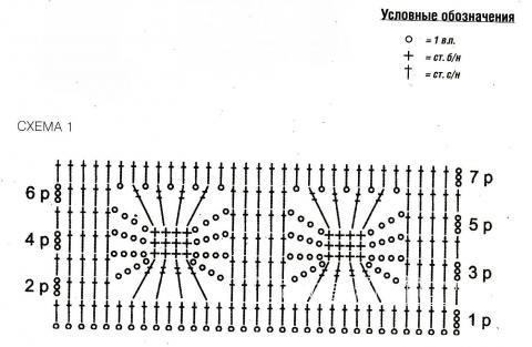Схема вязания голубая ажурная юбка раздел вязание крючком для женщин юбки для женщин