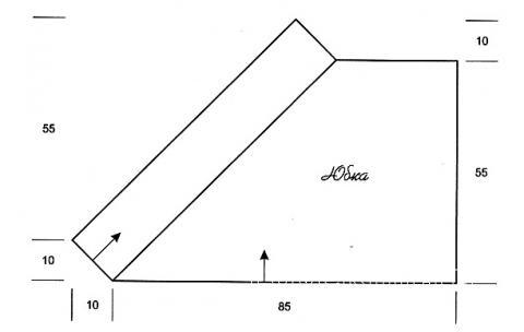 Схема вязания яркая юбка с запахом раздел вязание крючком для женщин юбки для женщин
