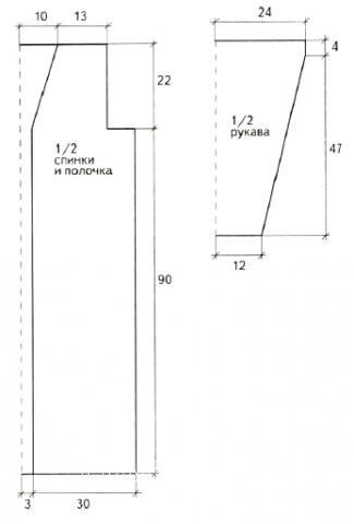 Схема вязания длинное пальто в пол с ажурным узором раздел вязание крючком для женщин пальто