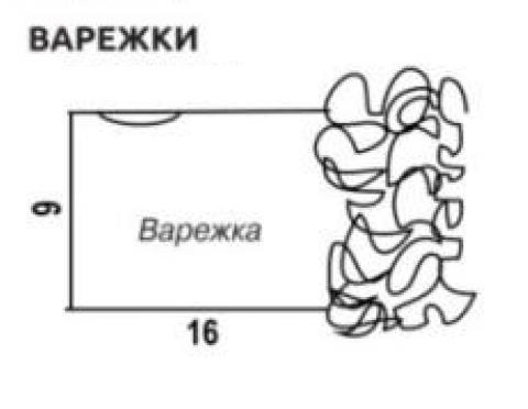 Схема вязания накидка-капюшон, повязка и варежки раздел вязание крючком для женщин пальто