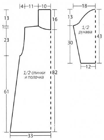 Схема вязания пальто с ажурным узором из квадратов раздел вязание крючком для женщин пальто