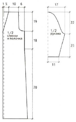 Схема вязания пальто с ажурным узором «паучки» раздел вязание крючком для женщин пальто