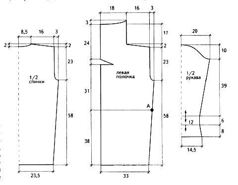 Схема вязания прямое удлиненное пальто и берет раздел вязание крючком для женщин пальто