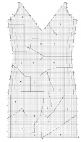 Схема вязания цветной сарафан с абстрактным рисунком раздел вязание спицами для женщин платья, сарафаны для женщин