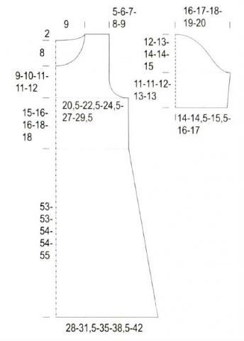 Схема вязания меланжевое платье с полосатым узором раздел вязание спицами для женщин платья, сарафаны для женщин