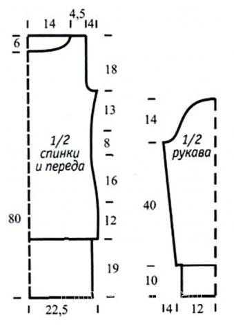 Схема вязания меланжевое платье с широкой резинкой и снуд раздел вязание спицами для женщин платья, сарафаны для женщин