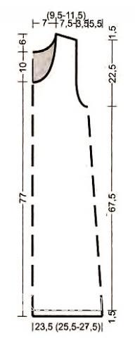 Схема вязания платье-майка без рукавов раздел вязание спицами для женщин платья, сарафаны для женщин