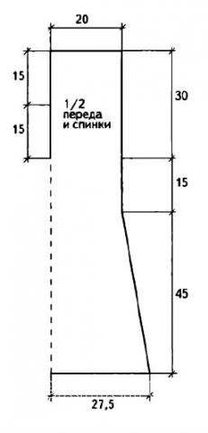 Схема вязания платье без рукавов с v-образным вырезом раздел вязание спицами для женщин платья, сарафаны для женщин