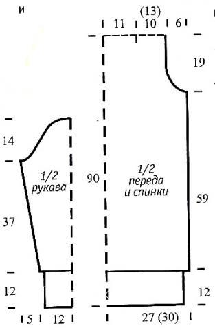 Схема вязания платье-свитер до колена из меланжевой пряжи раздел вязание спицами для женщин платья, сарафаны для женщин