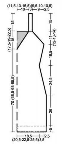 Схема вязания праздничное платье с ажурной каймой раздел вязание спицами для женщин платья, сарафаны для женщин
