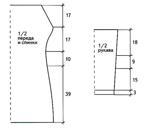 Схема вязания серое платье с длинными рукавами раздел вязание спицами для женщин платья, сарафаны для женщин