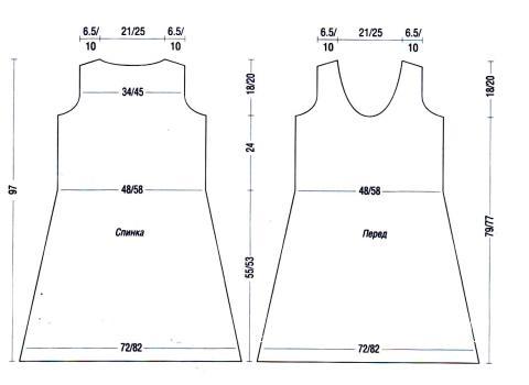 Схема вязания серое платье с поясом раздел вязание спицами для женщин платья, сарафаны для женщин