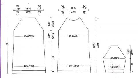 Схема вязания свободное полосатое платье раздел вязание спицами для женщин платья, сарафаны для женщин