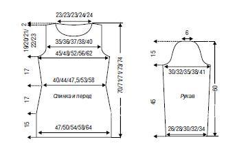 """Схема вязания туника с узором """"олень"""" раздел вязание спицами для женщин платья, сарафаны для женщин"""