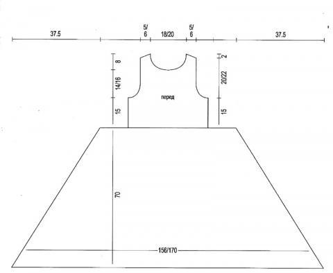 Схема вязания удлиненное платье с ажурной юбкой раздел вязание спицами для женщин платья, сарафаны для женщин