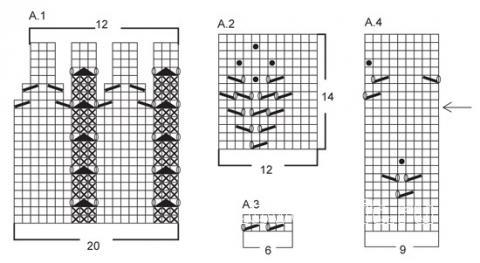 Схема вязания узорчатое платье с коротким рукавом раздел вязание спицами для женщин платья, сарафаны для женщин