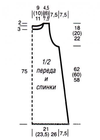 Схема вязания вязаное розовое платье без рукавов раздел вязание спицами для женщин платья, сарафаны для женщин