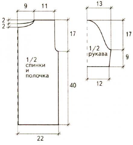 Схема вязания ажурная кофта с отложным воротником раздел вязание спицами для женщин кофты спицами женские