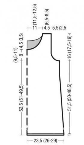 Схема вязания ажурная туника для пляжа без рукавов раздел вязание спицами для женщин кофты спицами женские