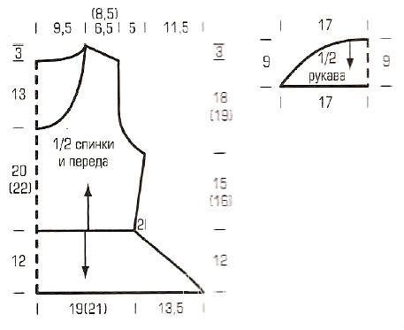 Схема вязания ажурный джемпер с баской раздел вязание спицами для женщин кофты спицами женские