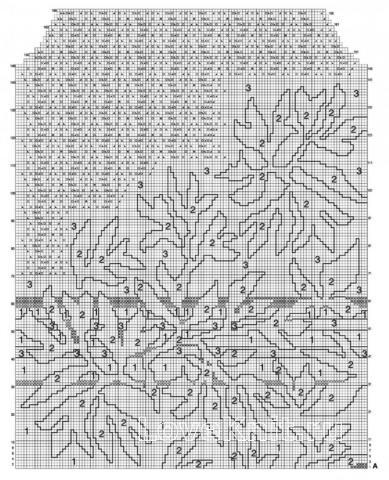 Схема вязания ажурный джемпер с цветочным рисунком раздел вязание спицами для женщин кофты спицами женские