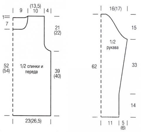 Схема вязания ажурный классический джемпер раздел вязание спицами для женщин кофты спицами женские