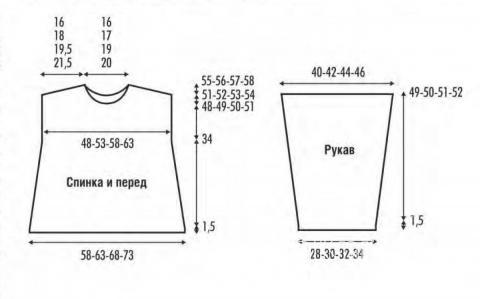 Схема вязания ажурный пуловер оверсайз раздел вязание спицами для женщин кофты спицами женские