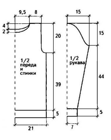 Схема вязания ажурный пуловер с воротником-стойка раздел вязание спицами для женщин кофты спицами женские