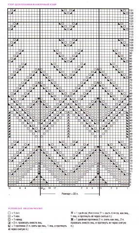 Схема вязания ажурный сиреневый пуловер раздел вязание спицами для женщин кофты спицами женские