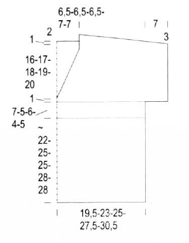 Схема вязания ажурный топ с глубоким v-образным вырезом раздел вязание спицами для женщин кофты спицами женские
