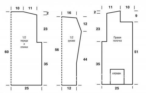 Схема вязания ажурный жакет на пуговицах раздел вязание спицами для женщин кофты спицами женские