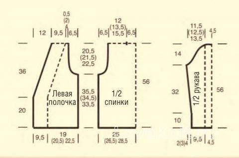 Схема вязания ажурный жакет со шнуровкой раздел вязание спицами для женщин кофты спицами женские