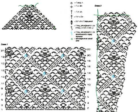 Схема вязания ажурный жакетик раздел вязание спицами для женщин кофты спицами женские