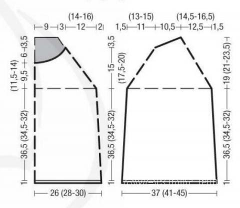 Схема вязания бесшовный джемпер с двухцветным узором  раздел вязание спицами для женщин кофты спицами женские