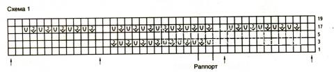 Схема вязания бежевый топ с оборками раздел вязание спицами для женщин кофты спицами женские