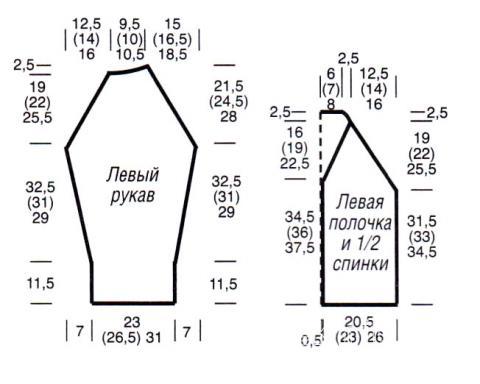 Схема вязания бежевый жакет с косами раздел вязание спицами для женщин кофты спицами женские