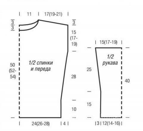 Схема вязания цветной джемпер оверсайз раздел вязание спицами для женщин кофты спицами женские