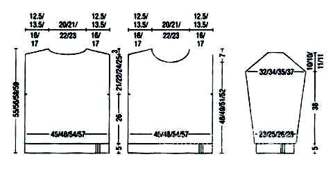 Схема вязания цветной джемпер с воротником гольф раздел вязание спицами для женщин кофты спицами женские