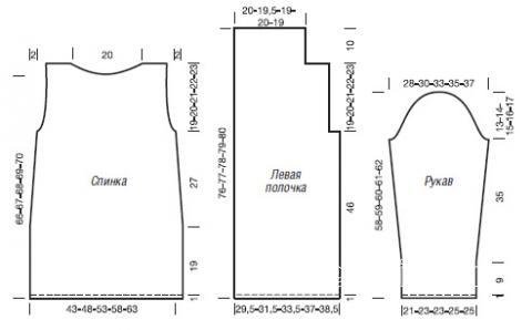 Схема вязания цветной кардиган с диагональным рисунком раздел вязание спицами для женщин кофты спицами женские